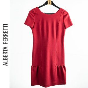 Alberta Ferretti RED Dress Sz 2